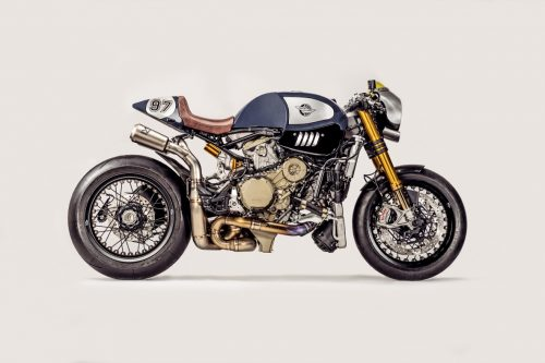 The erection section - 'The Blue Shark' Ducati Panigale R cafe racer 27